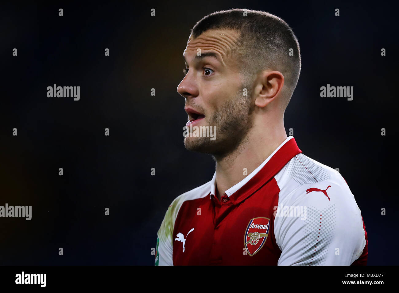 Jack Wilshere of Arsenal - Chelsea v Arsenal, Carabao Cup semi final - 1st leg, Stamford Bridge, London - 10th January - Stock Image