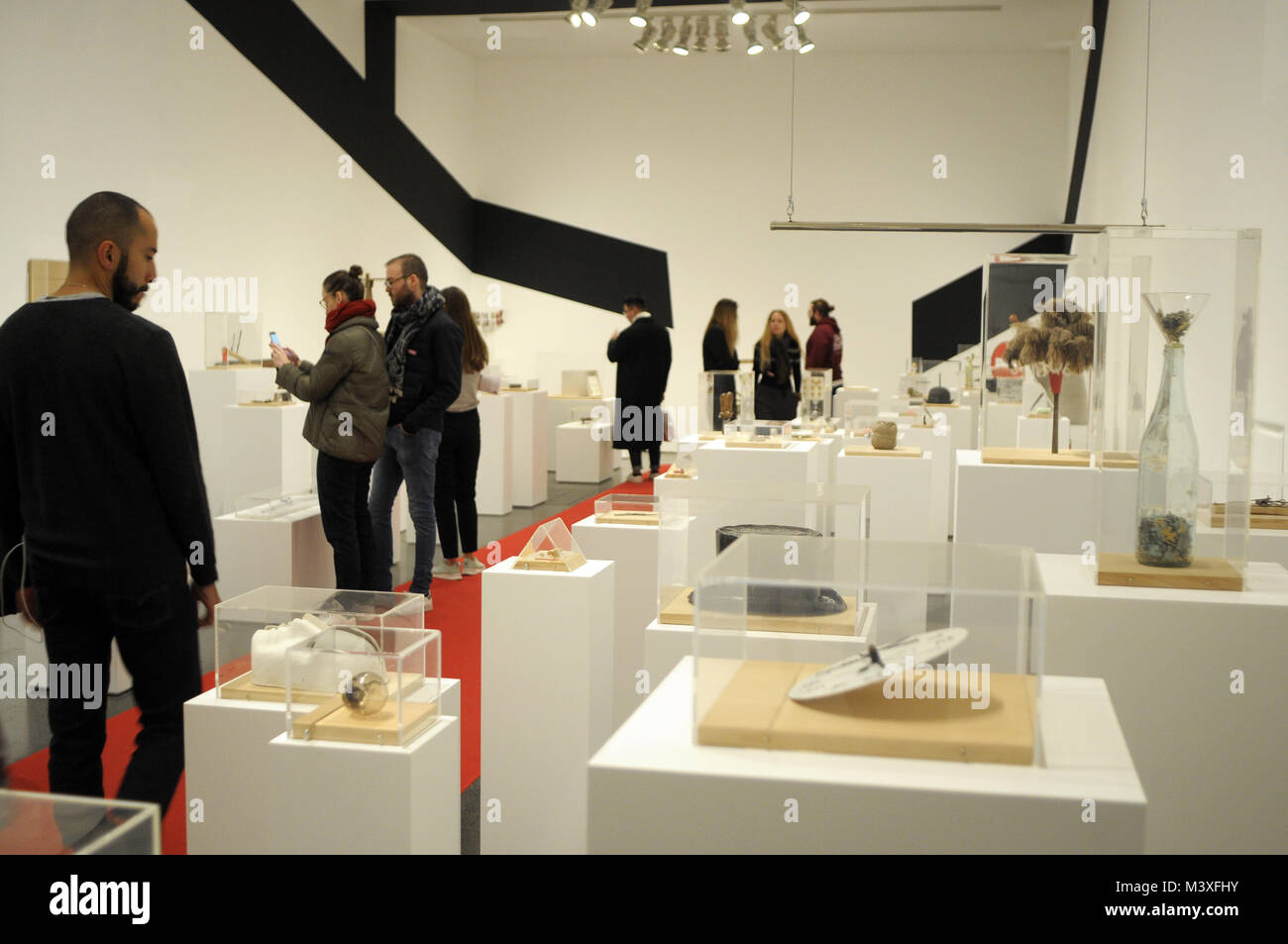 MACBA JOAN BROSSA VISUAL ART POETRY ARTIST EXHIBITION. BARCELONA - Stock Image