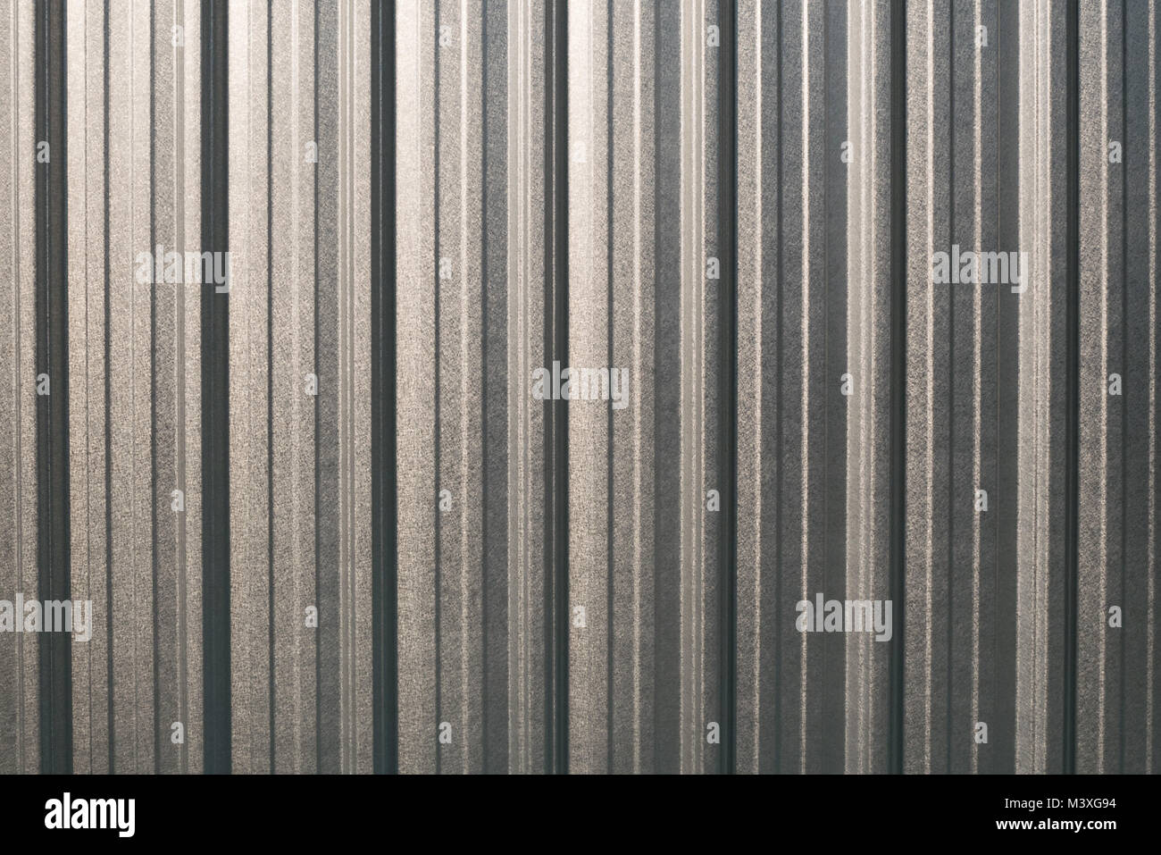 Silver Metal Roofing Sheet Texture - Stock Image