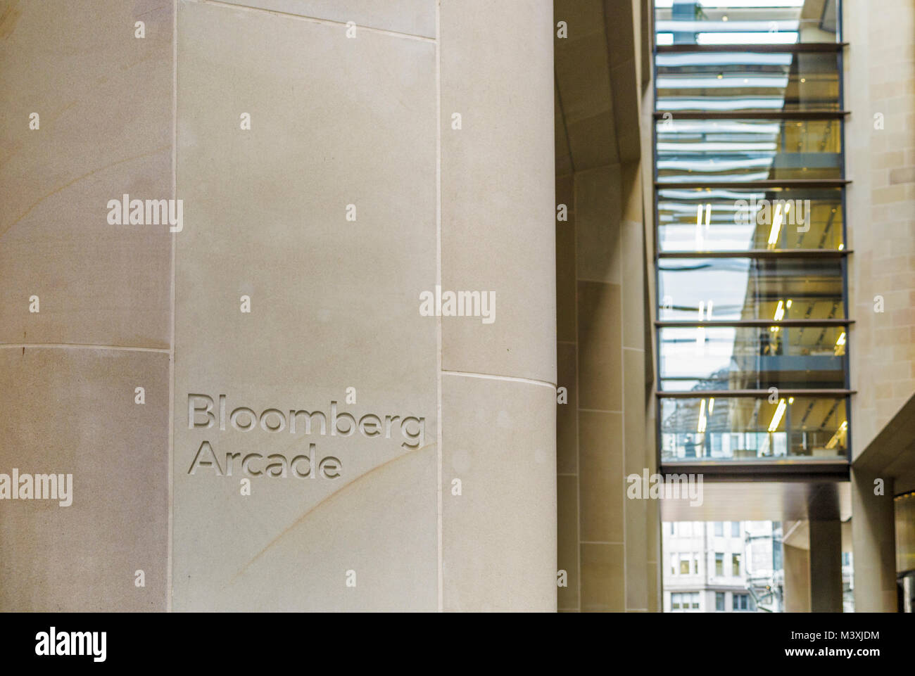 Bloomberg stock photos bloomberg stock images alamy bloomberg arcade through the bloomberg london building bloombergs new european headquarters and offices queen biocorpaavc Image collections