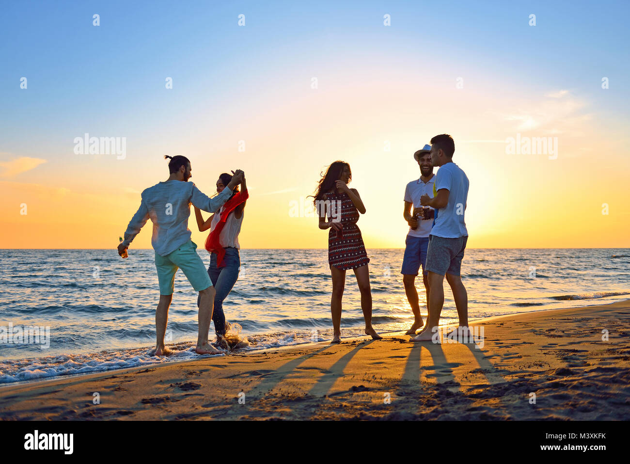 People Celebration Beach Party Summer Holiday Vacation Concept - Stock Image