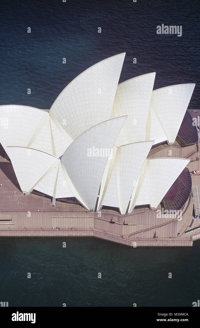 Aerial view of Sydney Opera House in Sydney, Australia. - Stock Image