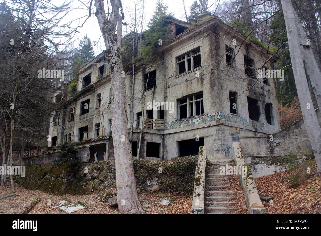 Abandoned Old Sanatorium Stock Photo Alamy