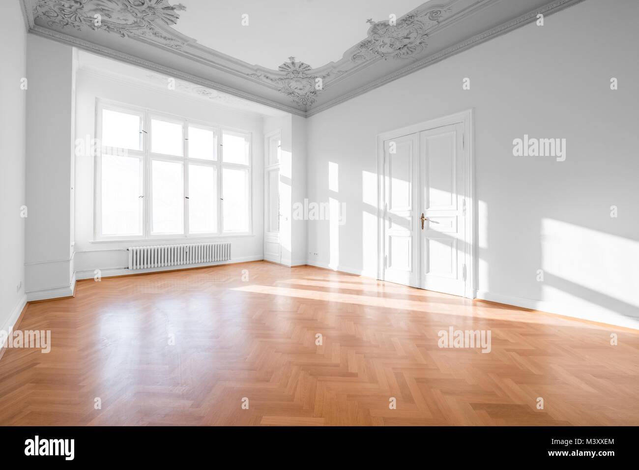 empty apartment room luxury real estate interior stock photo