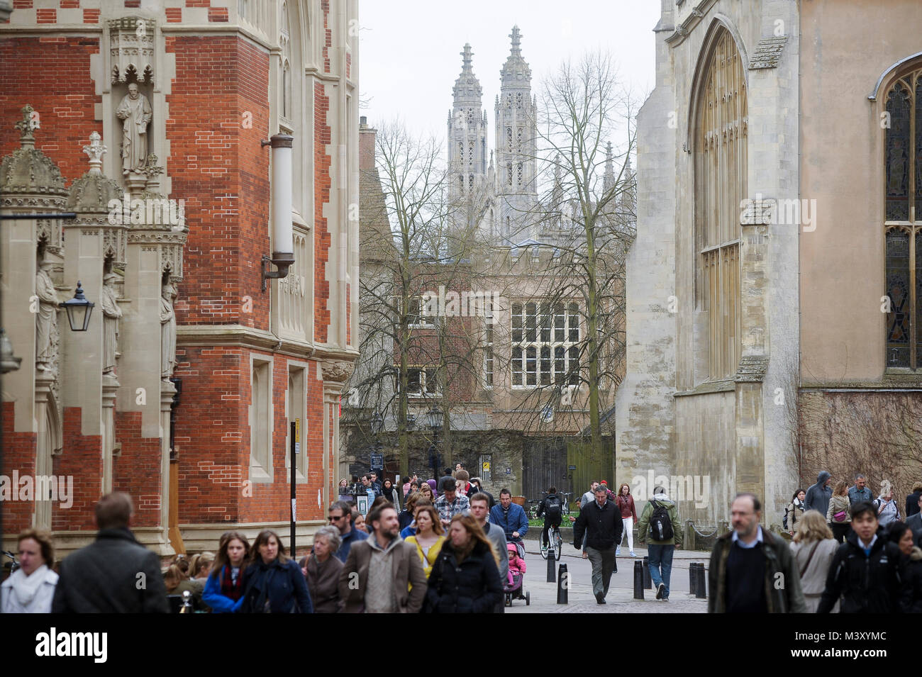 Old Divinity School of St John's College founded in 1511, Trinity College from 1546 and Gothic Chapel Trinity - Stock Image