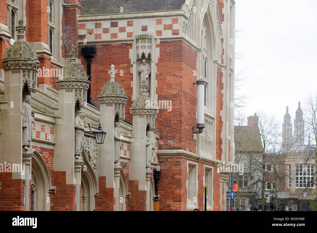 Old Divinity School of St John's College founded in 1511, University of Cambridge one of the oldest universities - Stock Image