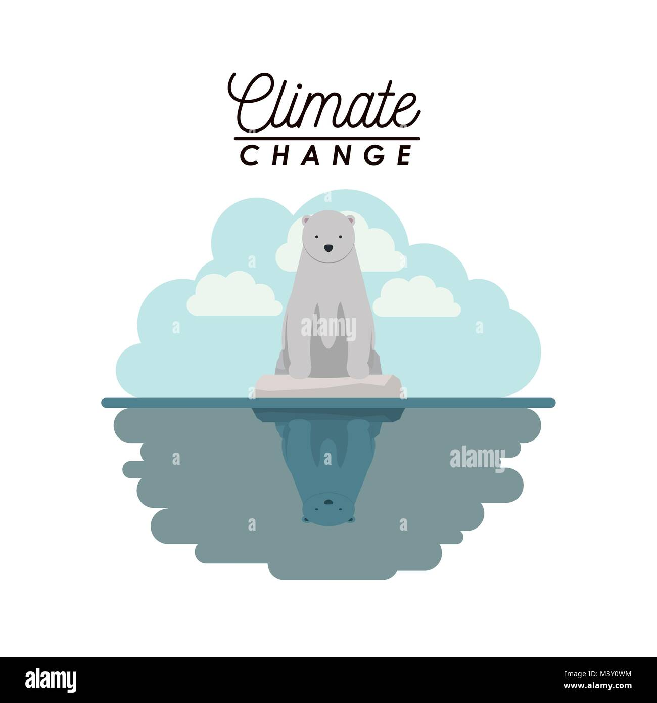 effects of climate change - Stock Image