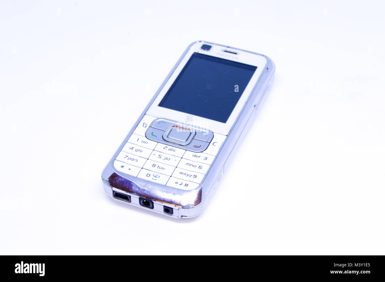 Old Nokia 6120 Mobile Phone Released In 2007 Photographed Against A Stock Photo Alamy