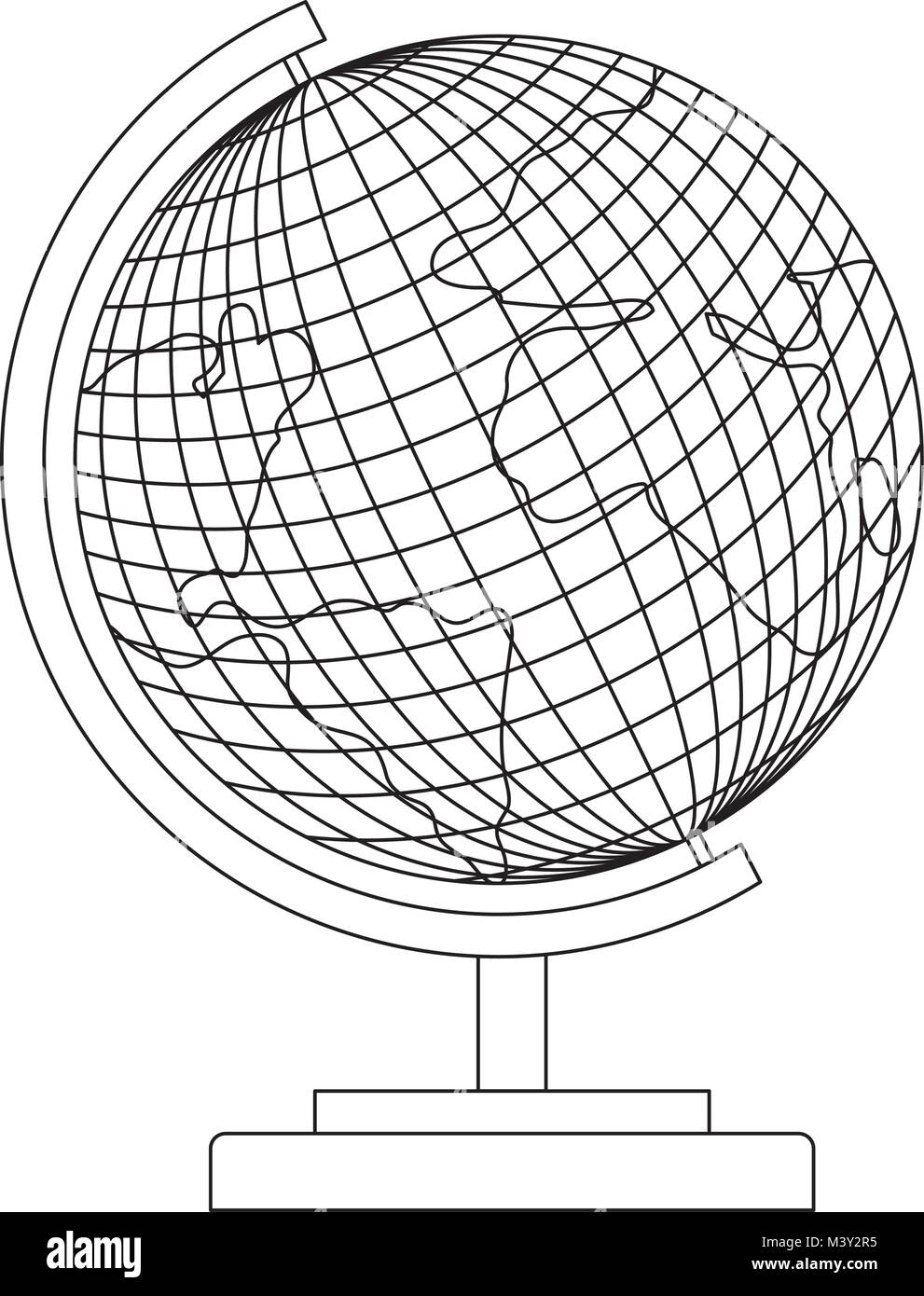 world planet earth icon - Stock Image