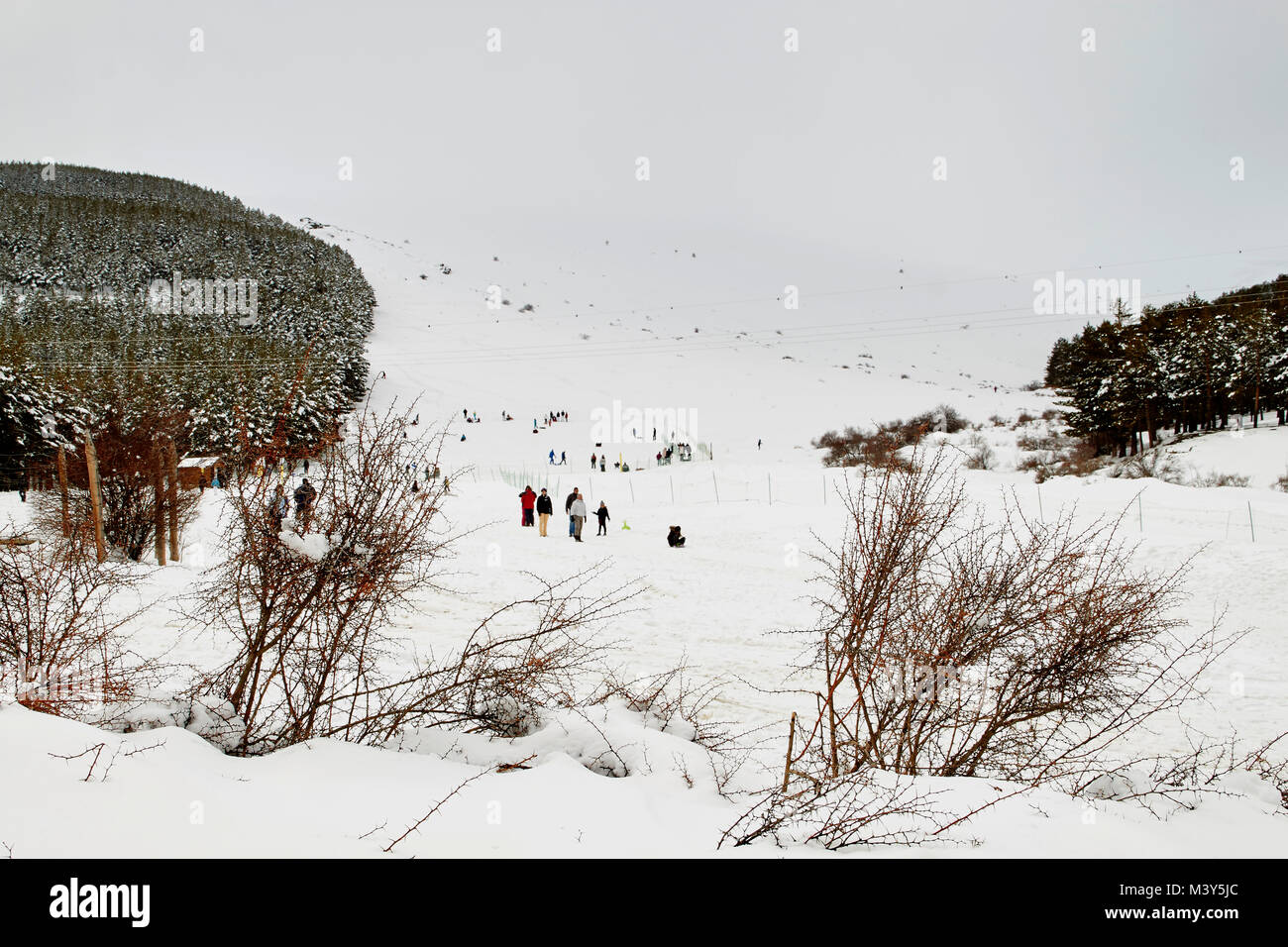 winter sport in Andalusia, Spain - Stock Image