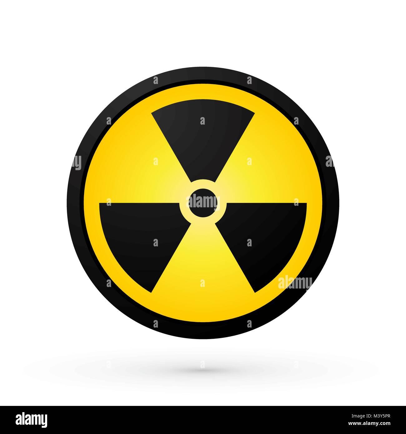 simple radioactivity symbol - Stock Image