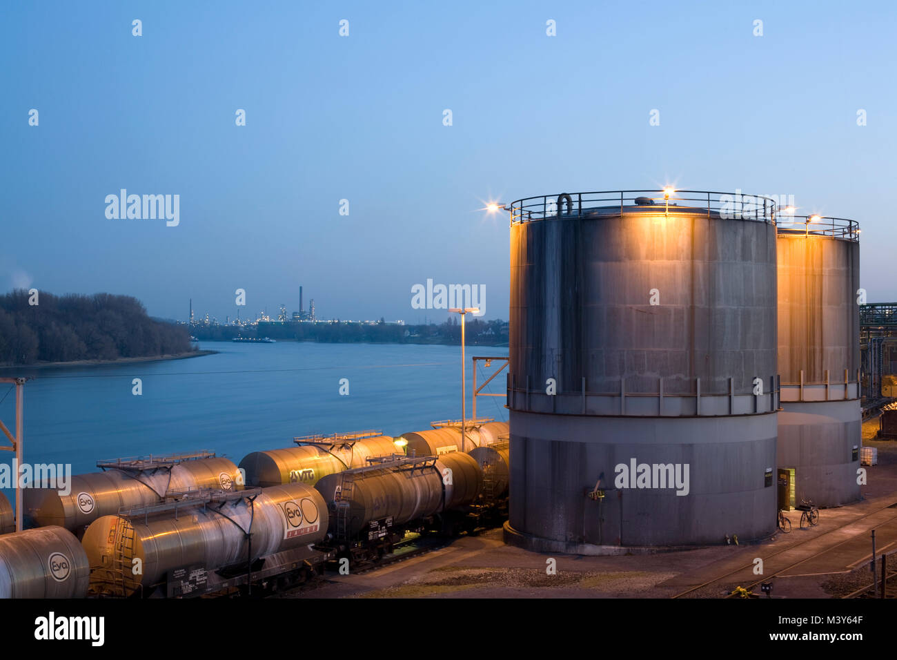 Chemical plant in Wesseling near Cologne, Germany. - Stock Image