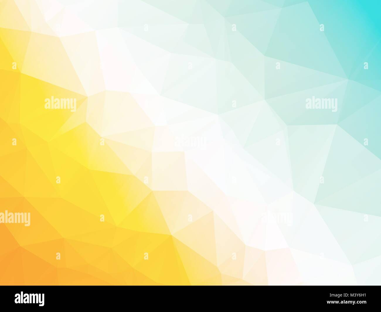 Abstract geometric triangle yellow blue hot summer background - Stock Vector