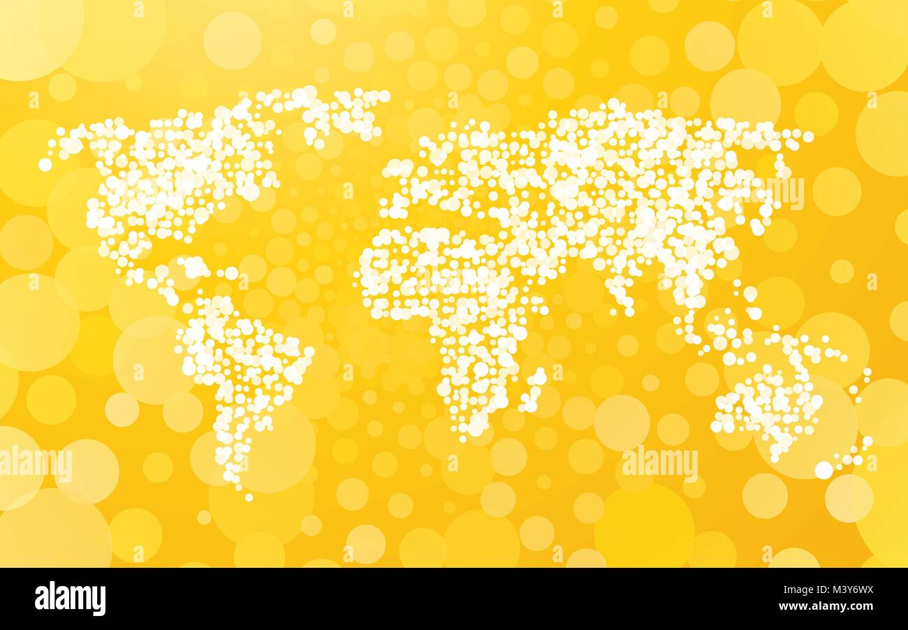 World map made of small dots on a yellow background with bubbles world map made of small dots on a yellow background with bubbles gumiabroncs Images