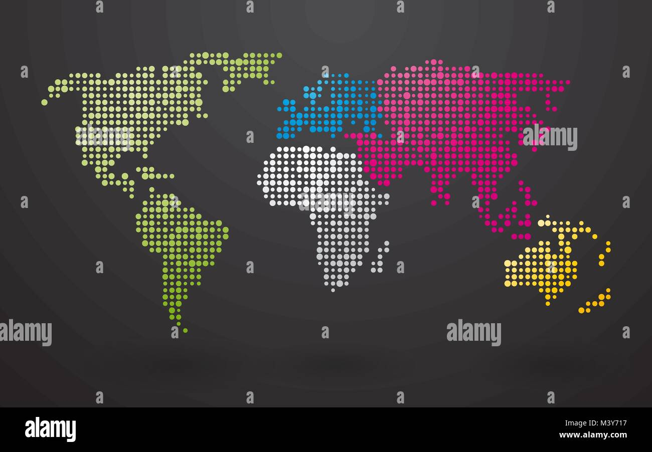World map made up of small dots with distinct continents stock world map made up of small dots with distinct continents gumiabroncs Image collections