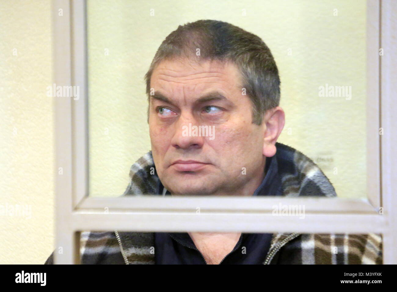 Rostov On Don, Russia. 13th Feb, 2018. ROSTOV-ON-DON, RUSSIA - FEBRUARY 13, 2018: Badruddi Daudov charged with participation - Stock Image