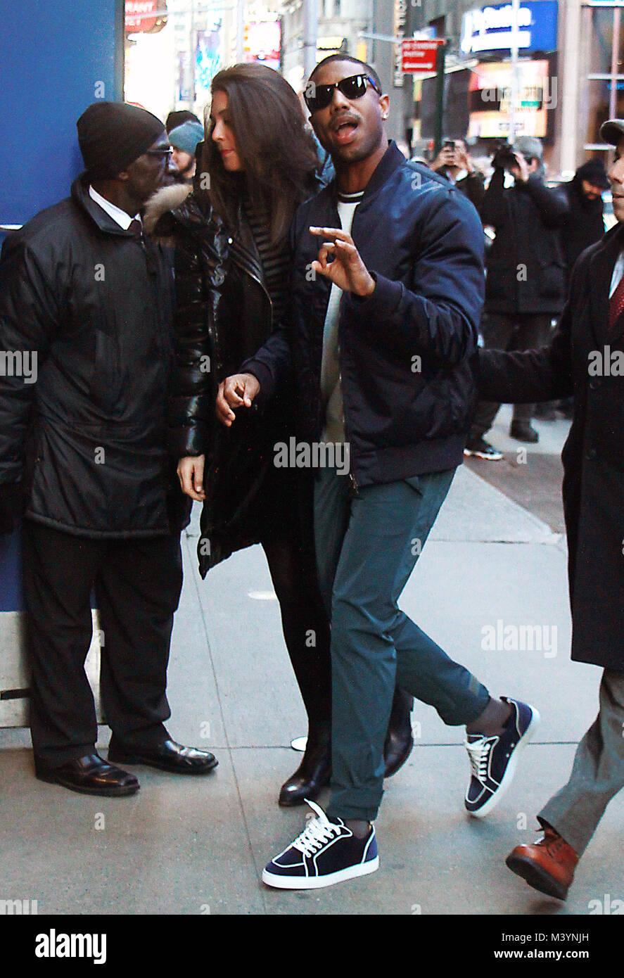 New York Ny Usa 13th Feb 2018 Michael B Jordan At Good Morning
