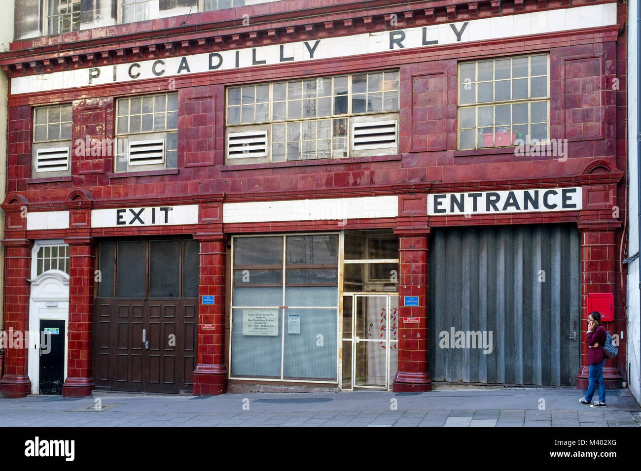 The old Strand underground station opened in 1907 was renamed Aldwych shortly afterwards. The station closed down - Stock Image