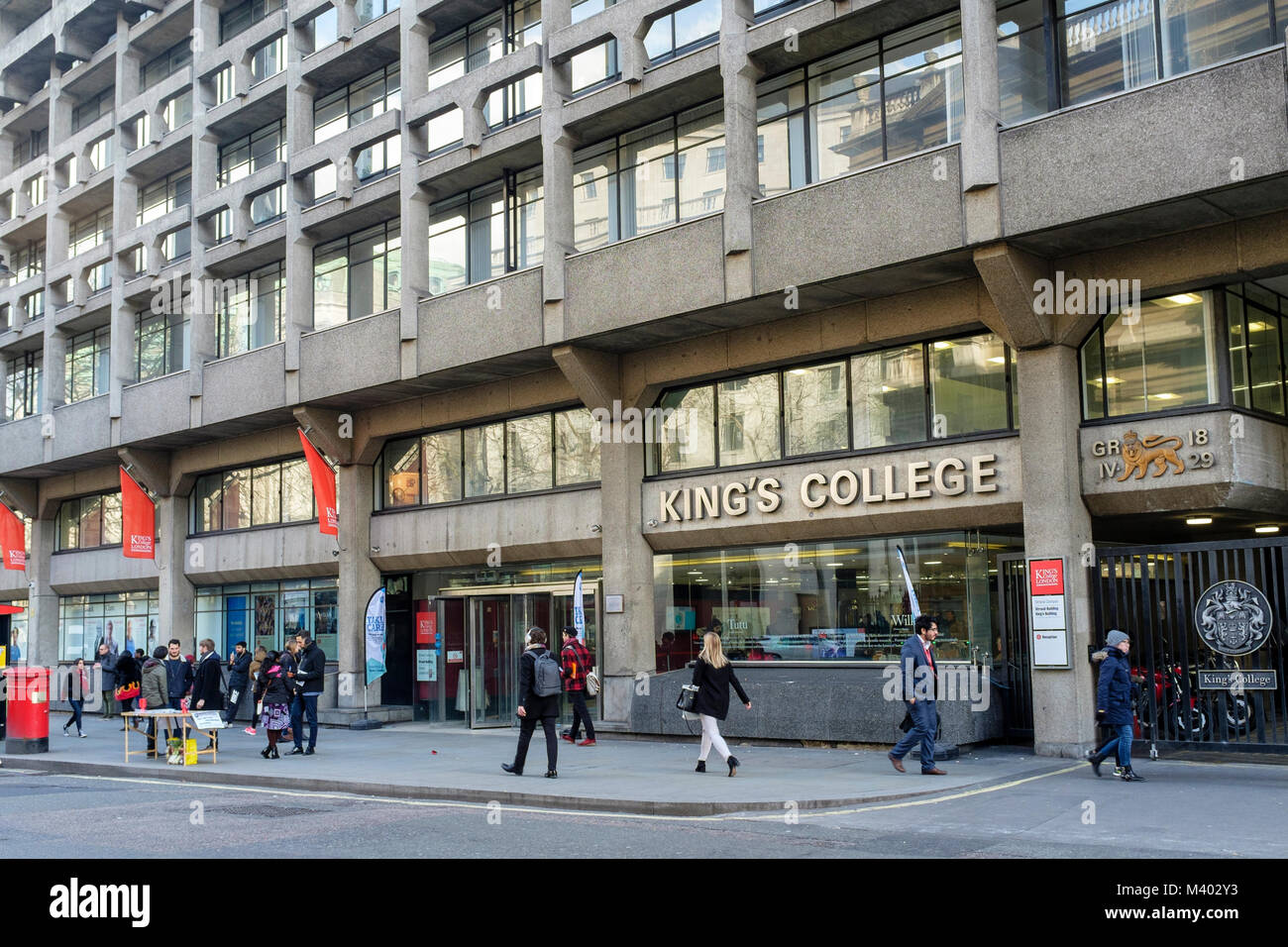 King's College London, Strand Campus building, London, UK. - Stock Image