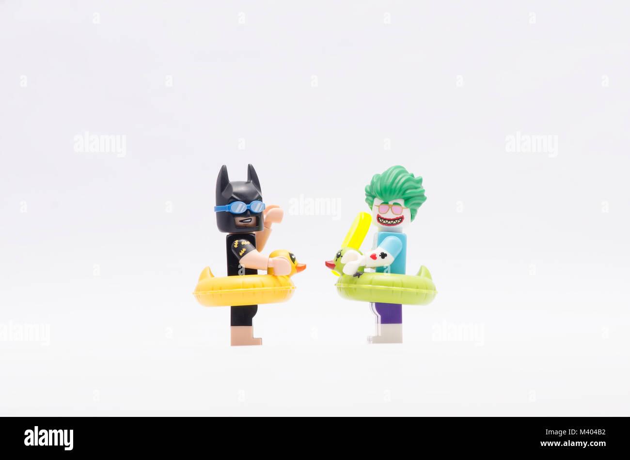 Lego Vacation Batman And Beach Joker Isolated On White Background