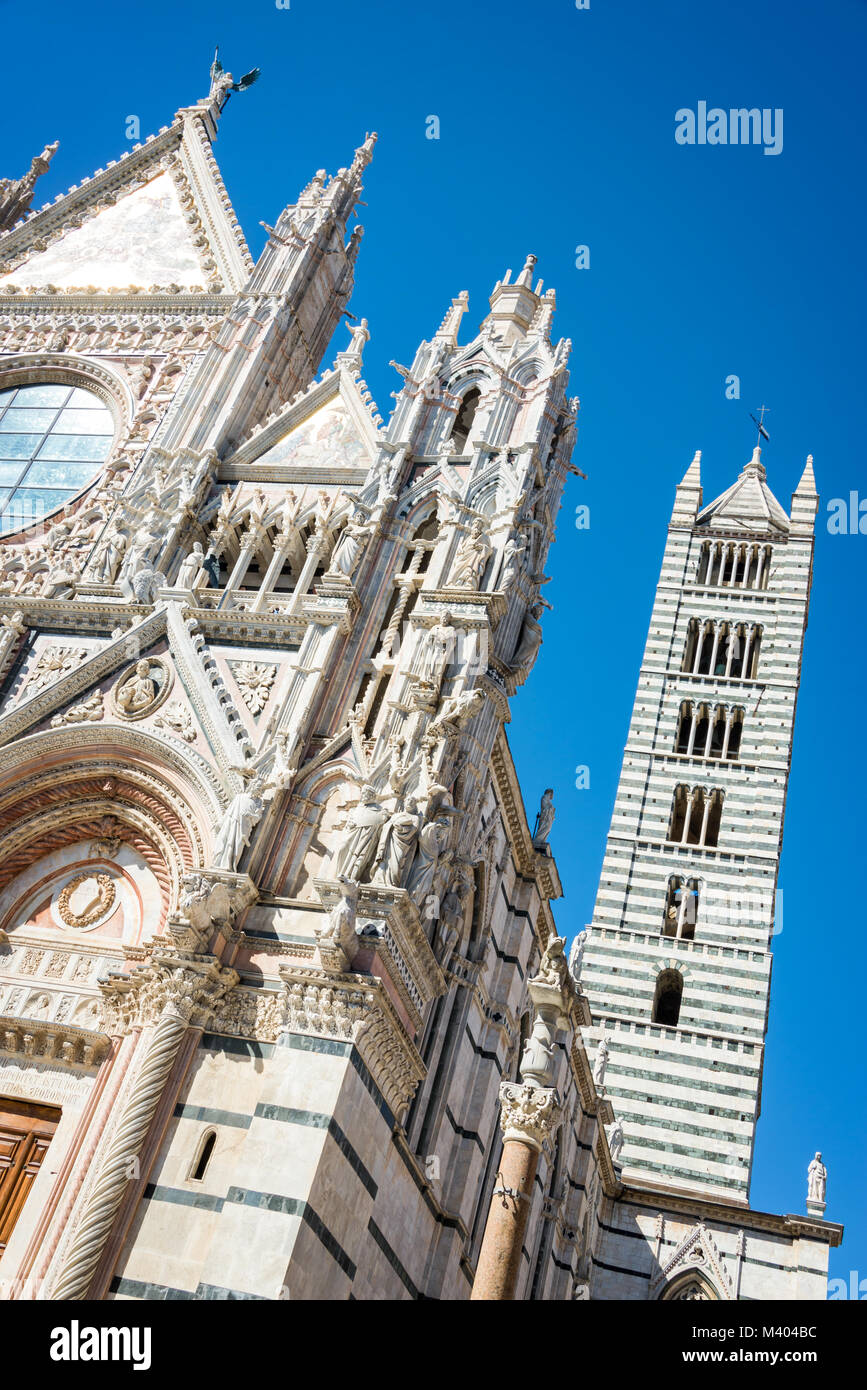 Siena cathedral (duomo) in Siena, Tuscany, Italy - Stock Image