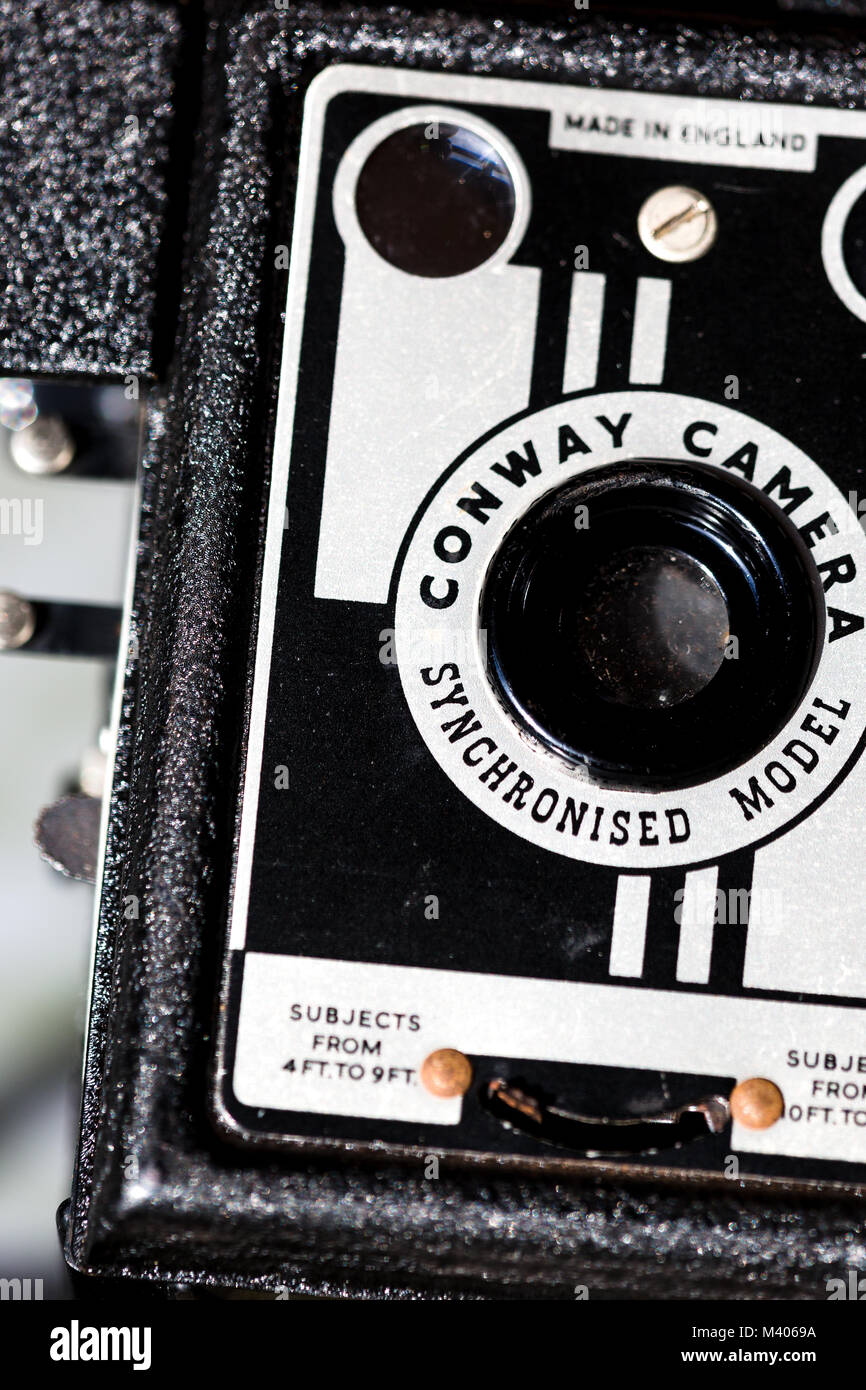 Old 1950s Conway camera. - Stock Image