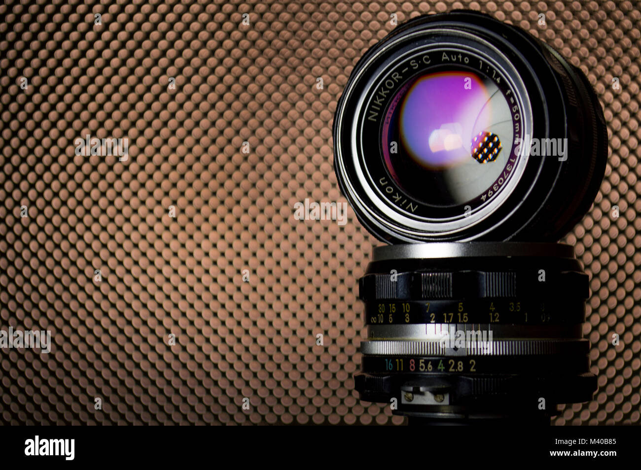 nikon lens - Stock Image