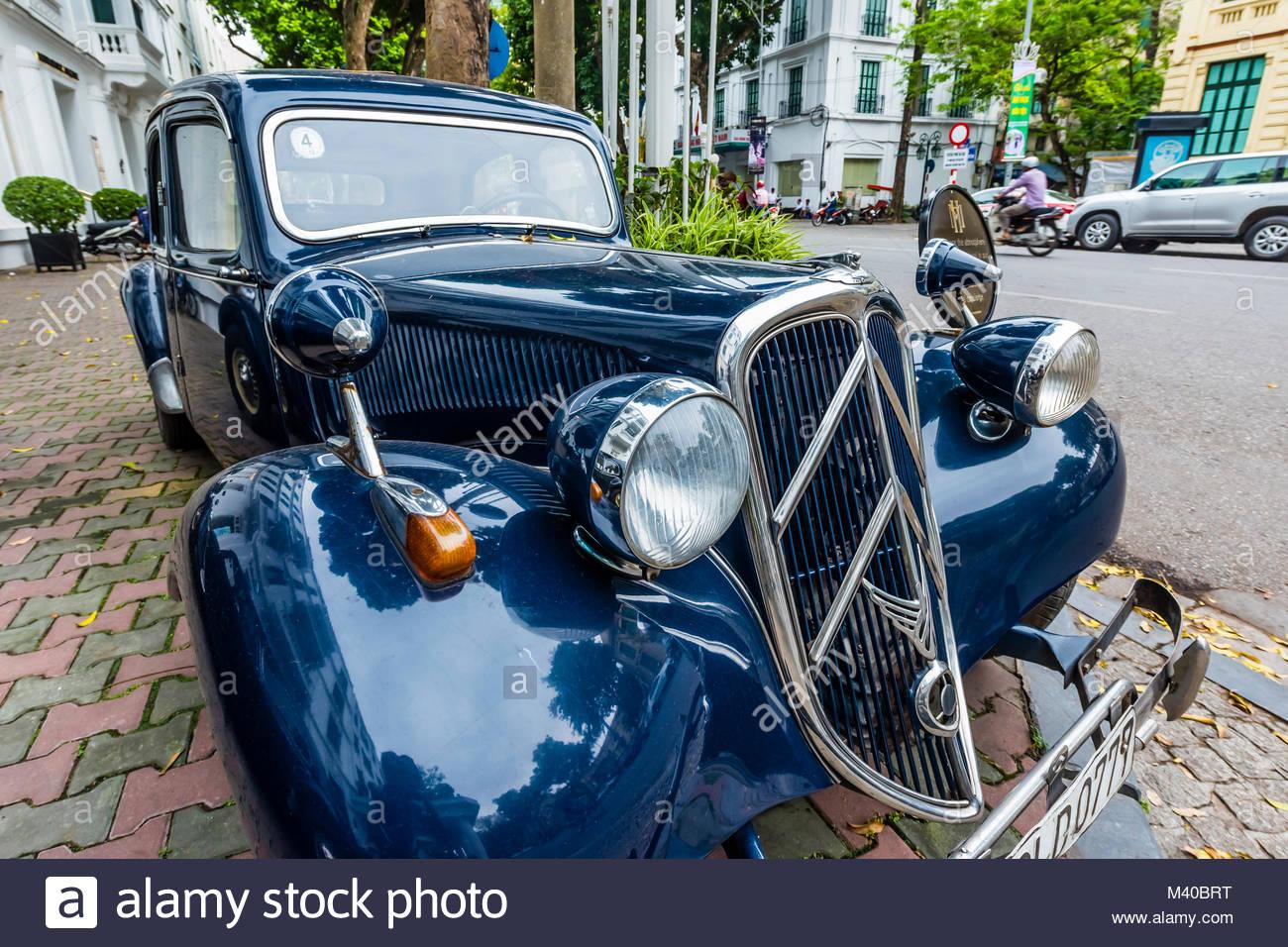 A vintage 1953 Citroen automobile used as a hotel car, Sofitel ...