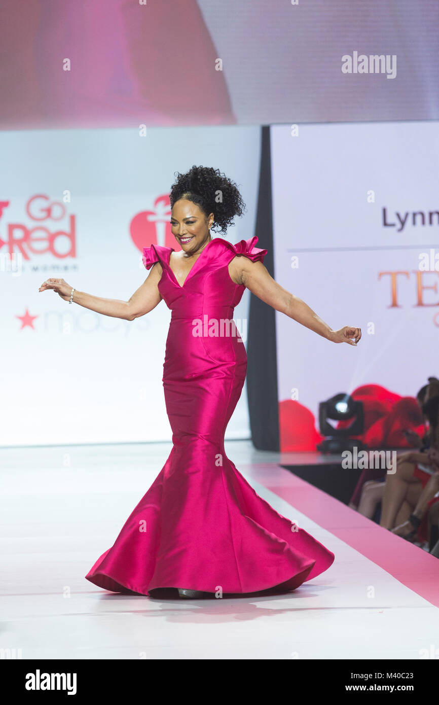 31a5678ce0b8 New York, NY - February 8, 2018: Lynn Whitfield wearing gown by Terani  Couture walks runway for Red Dress 2018 Collection Fashion Show at  Hammerstein ...
