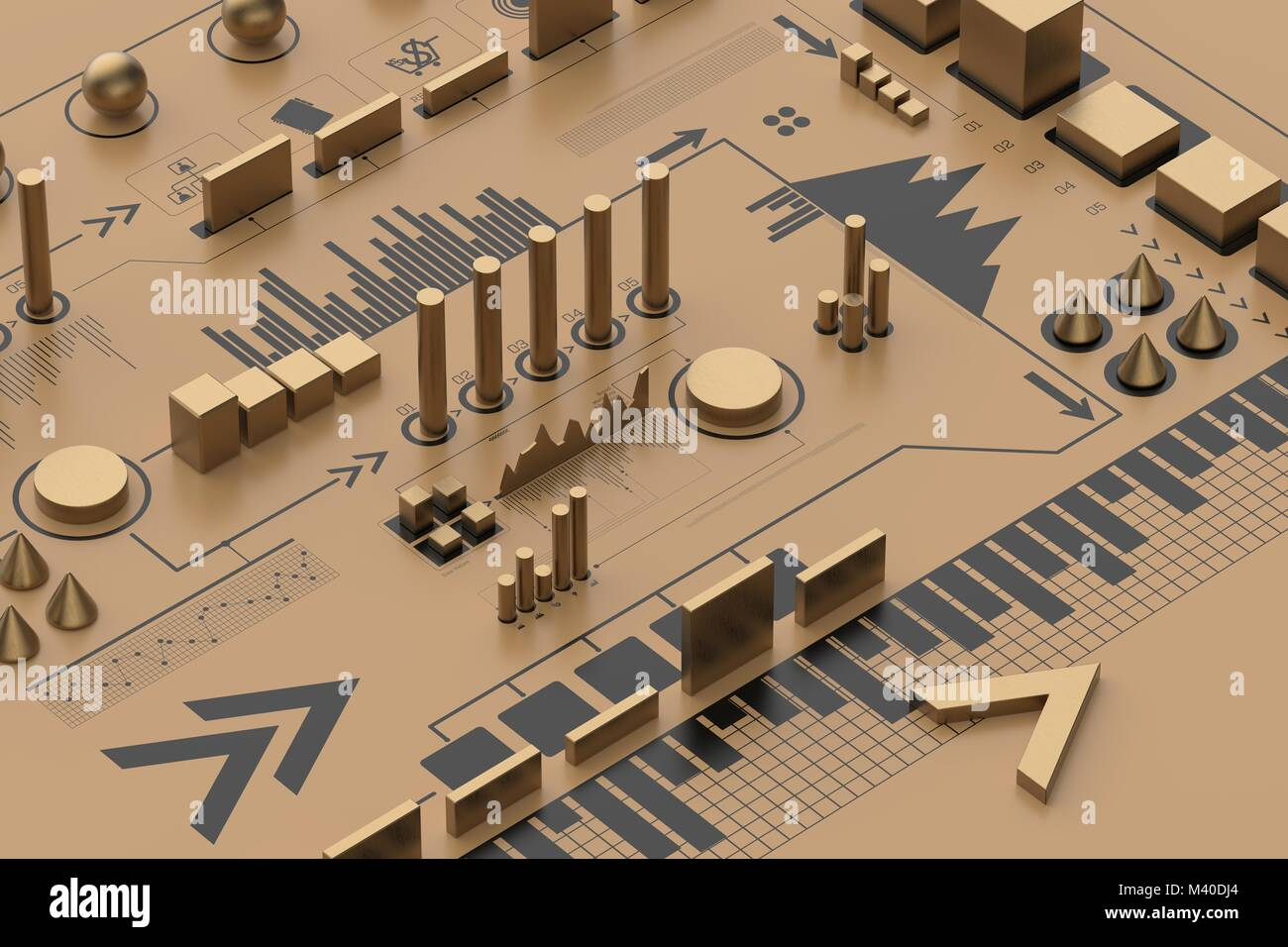 3d infographic background, business concept. 3D illustrating - Stock Image