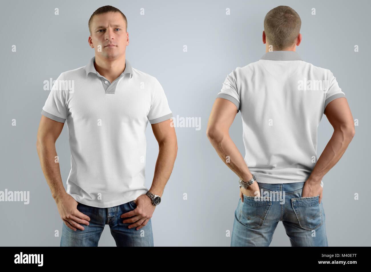 T Shirt Template Set Front Back On Stock Photos T Shirt