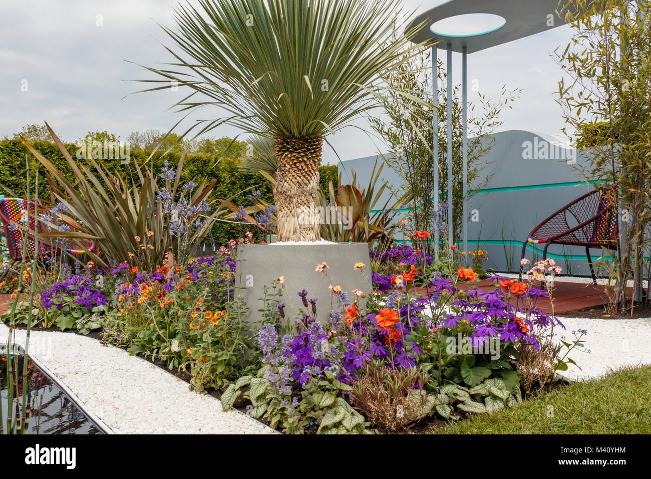 ocean garden show garden at rhs malvern spring festival 2017 designed by michel damien - Ocean Garden