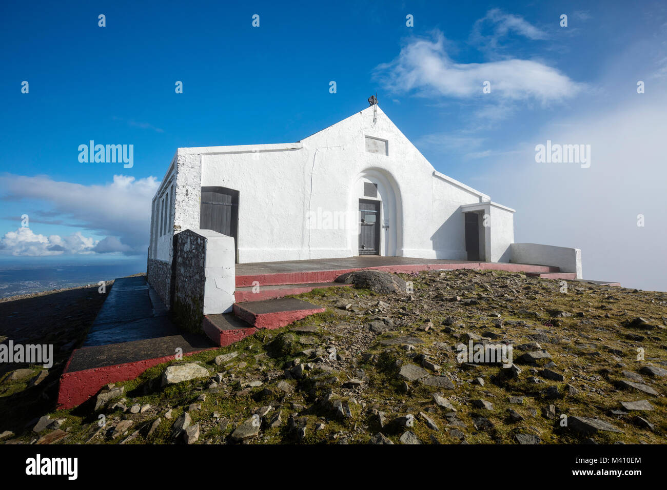 Ireland's highest church at the summit of Croagh Patrick, County Mayo, Ireland. - Stock Image