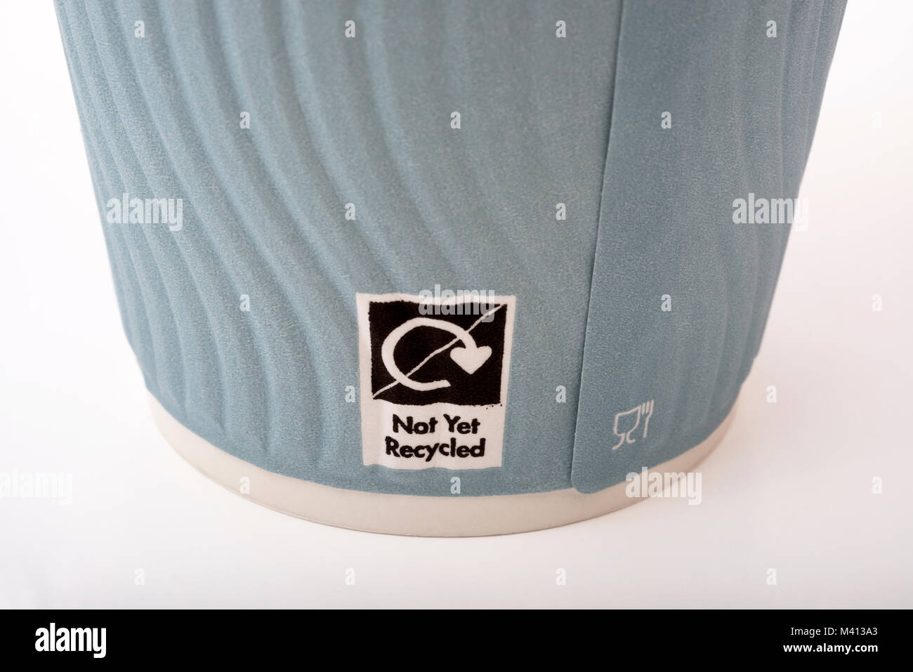 Non recyclable coffee cup - Stock Image
