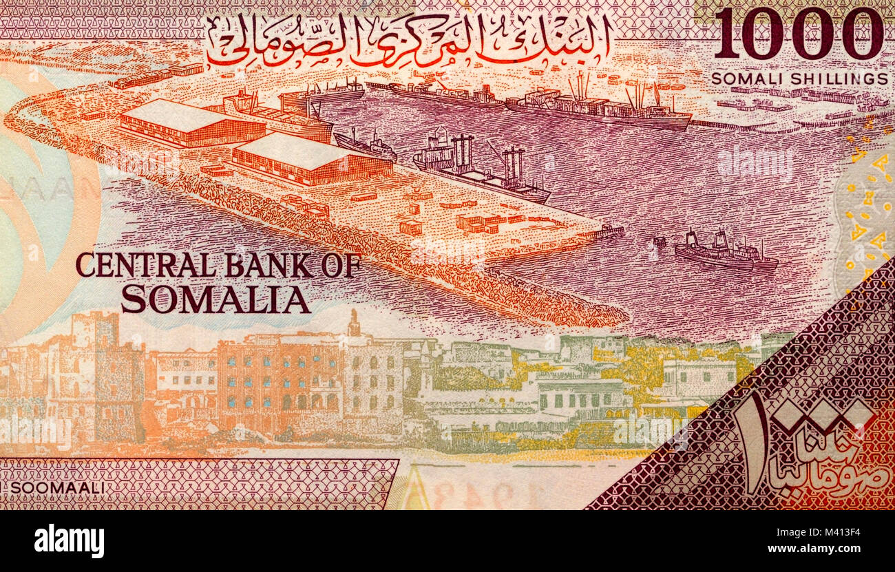 Somalia one thousand 1000 Shilling Bank Note - Stock Image