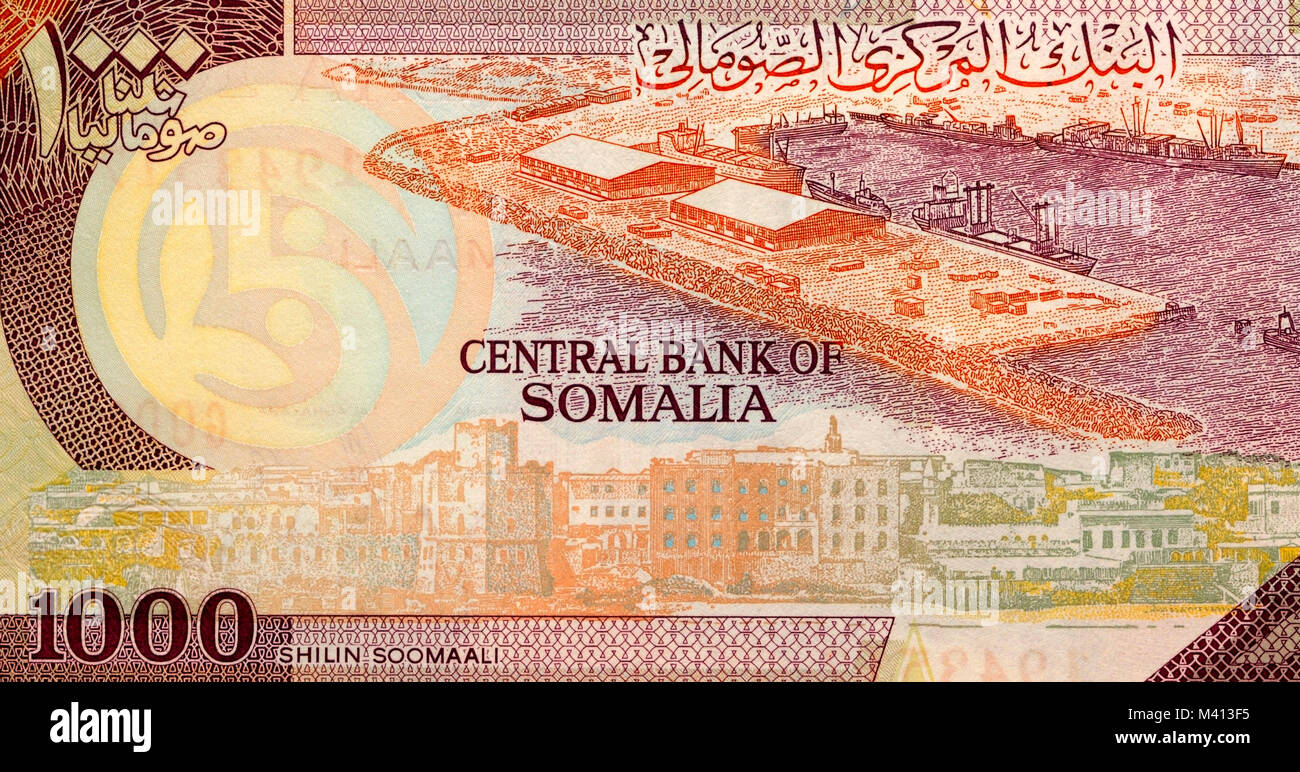 Somalia one thousand 1000 Shilling Bank Note Stock Photo
