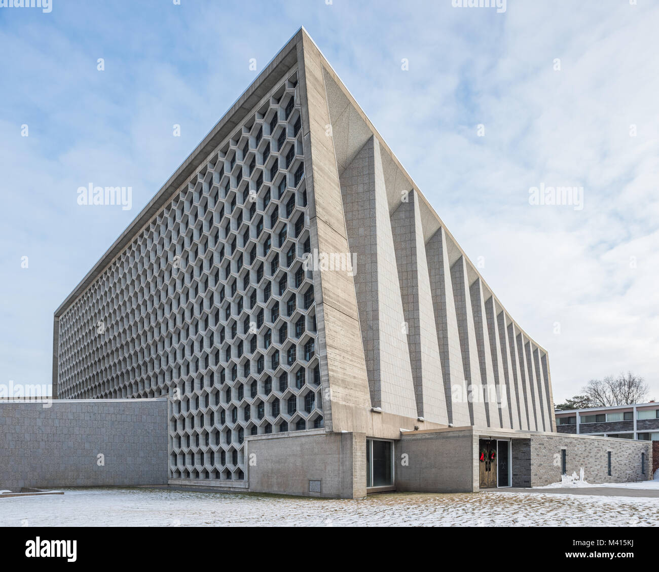 Exterior of St. John's Abbey Church, designed by Marcel Breuer - Stock Image
