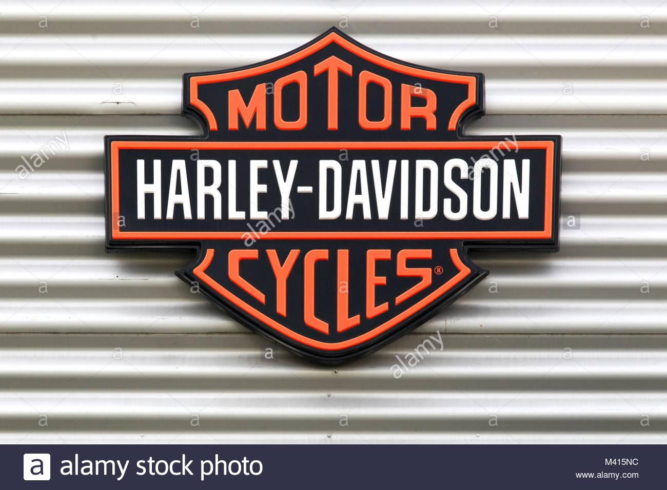 harley davidson store stock photos harley davidson store stock images alamy. Black Bedroom Furniture Sets. Home Design Ideas