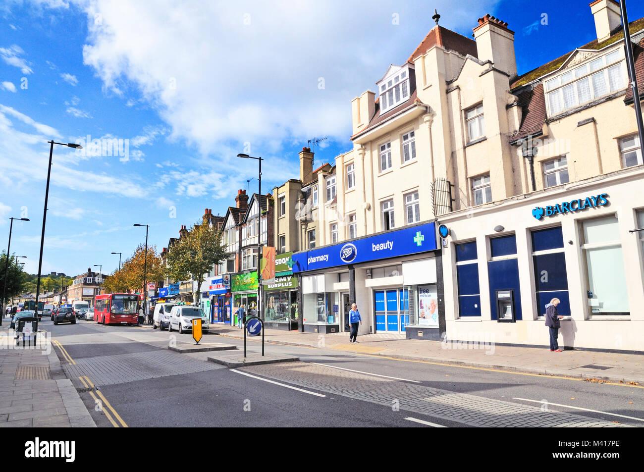 Coulsdon High Street, Surrey, London Borough of Croydon, Greater London, UK - Stock Image