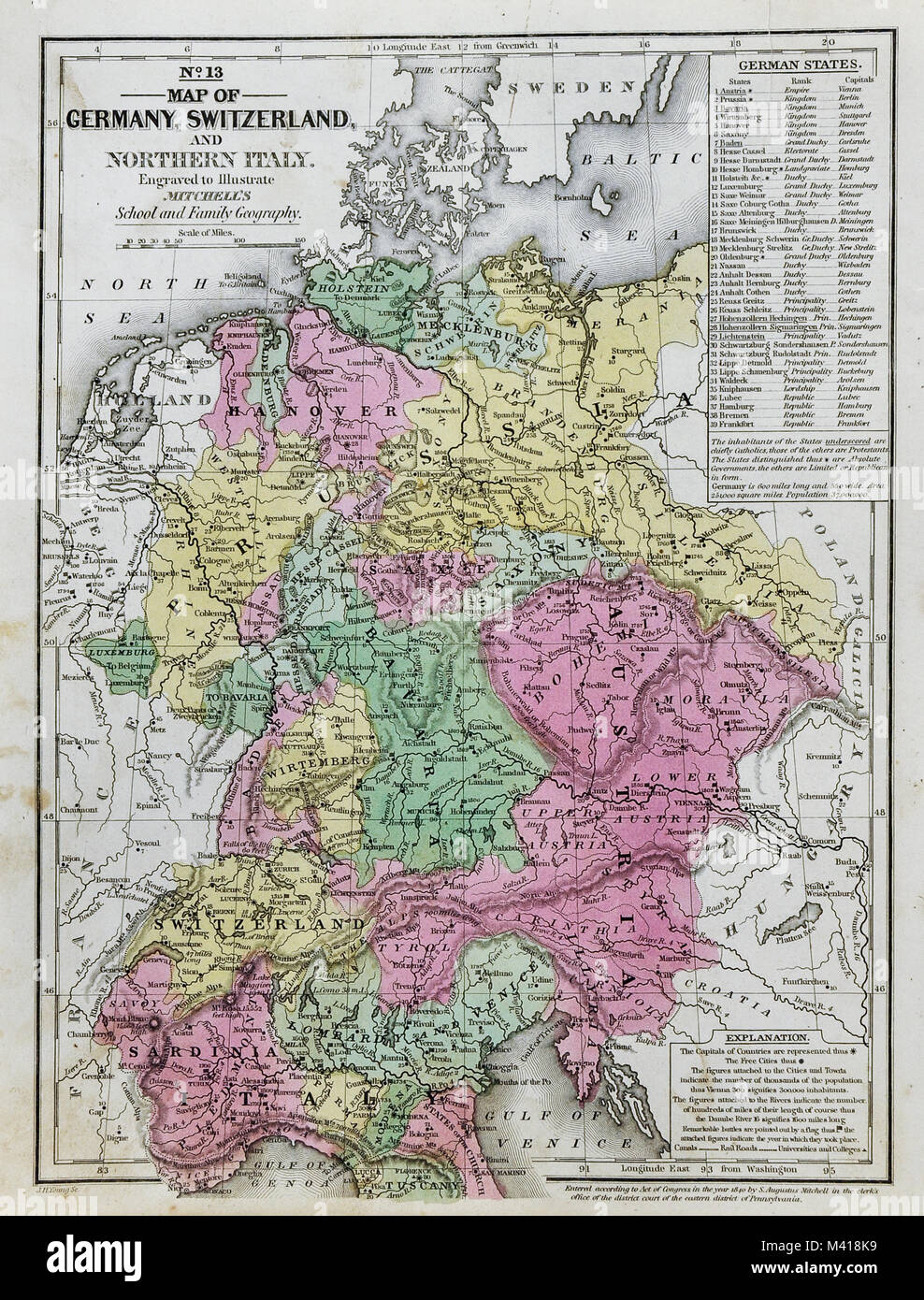 Bohemia Map Stock Photos Bohemia Map Stock Images Alamy