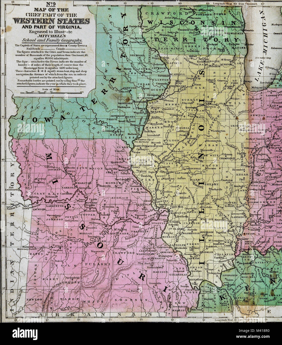 1839 Mitc Map - Upper Midwest States - Missouri Illinois ... Border States Map Ohio on ohio tennessee map, ohio south map, pennsylvania bordering canada map, ohio union map, ohio civil war map, ohio underground railroad map, ohio ohio map, ohio bordering states,