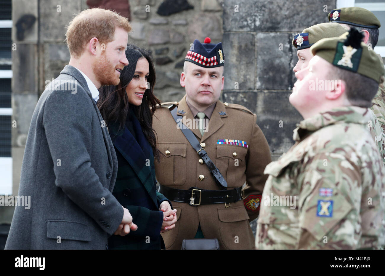Prince Harry And Meghan Markle Meet The Gunners Before The Firing Of