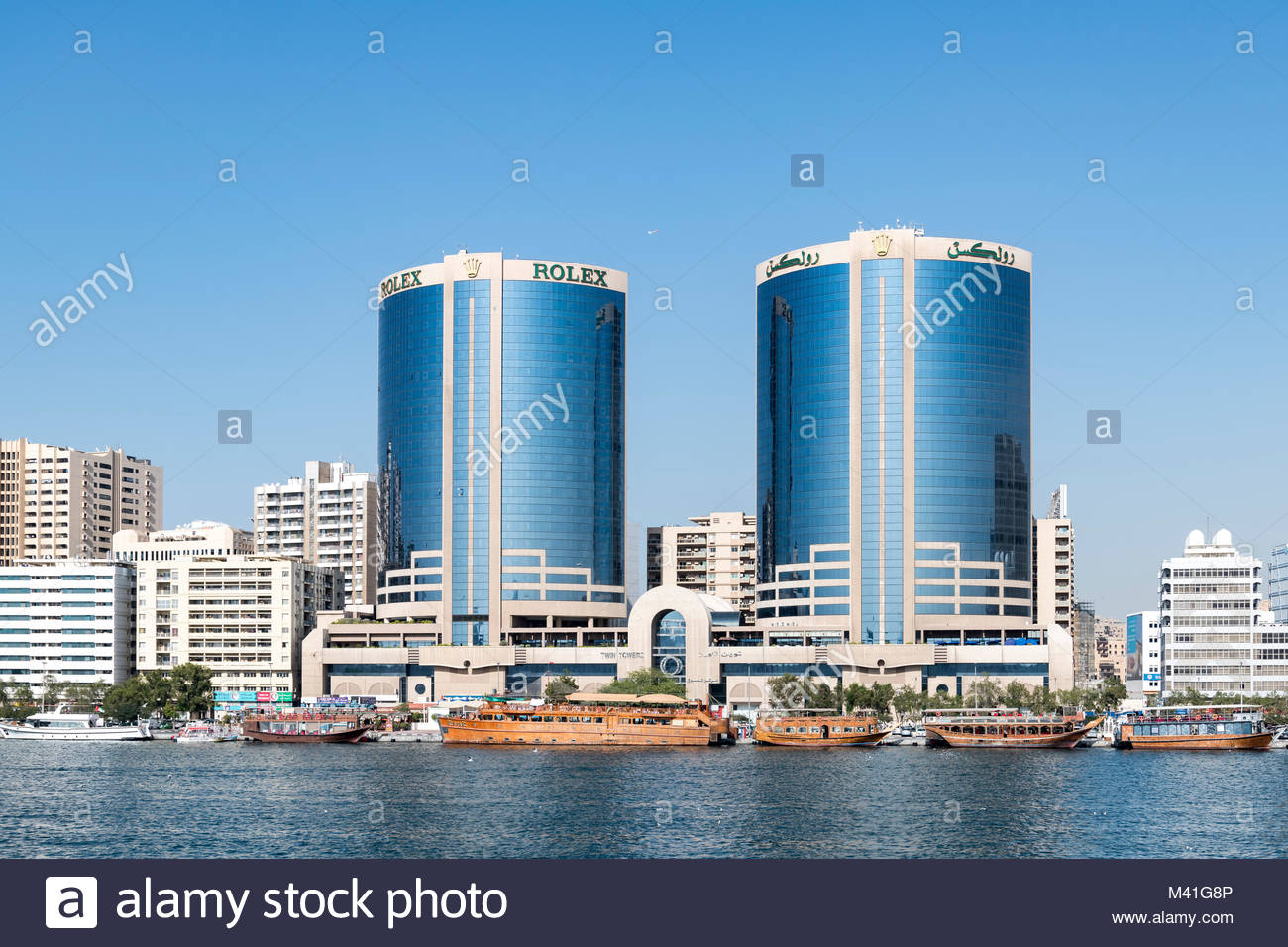 The Deira Twin Towers Also Known As Dubai Or Rolex Was Built In 1998 And Feature 22 Floors 102 Meter High Buildings