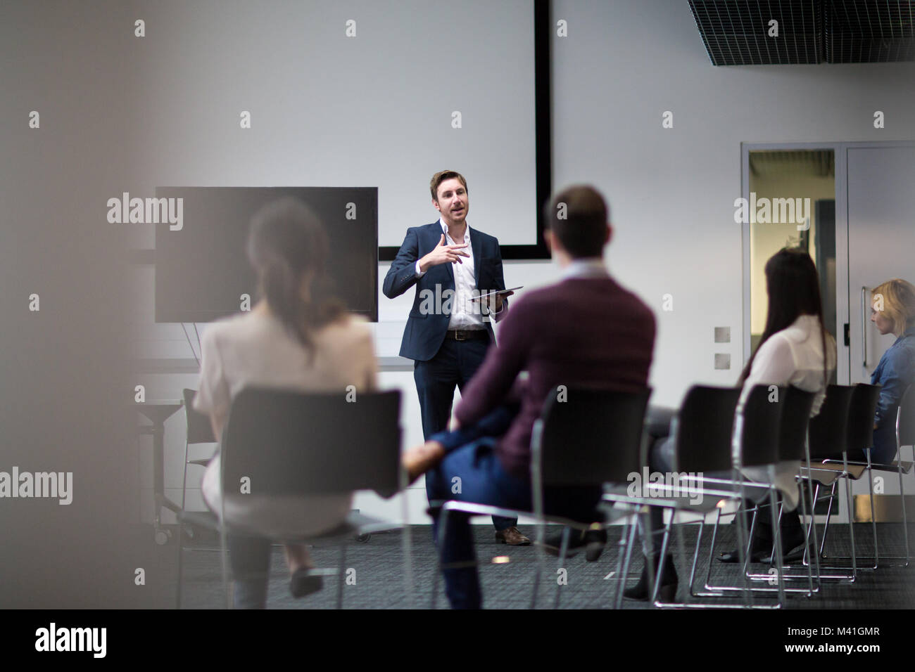 Business training conference - Stock Image