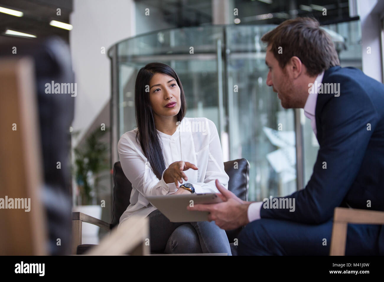 Businesswoman interviewing - Stock Image