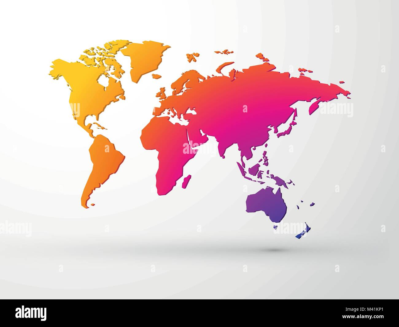 World map 3d color vector stock vector art illustration vector world map 3d color vector gumiabroncs Image collections