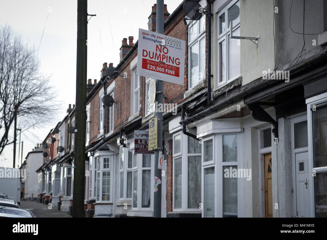Benefits Street. Pictured is James Turner Street in the Winston Green area of Birmingham. It was filmed for a documentary - Stock Image