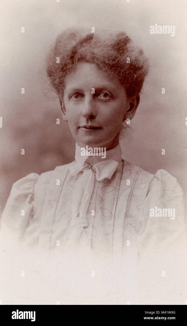 Studio Portrait Of Fanny Amelia Jupp Born 1871 Victorian Photograph Circa 1895