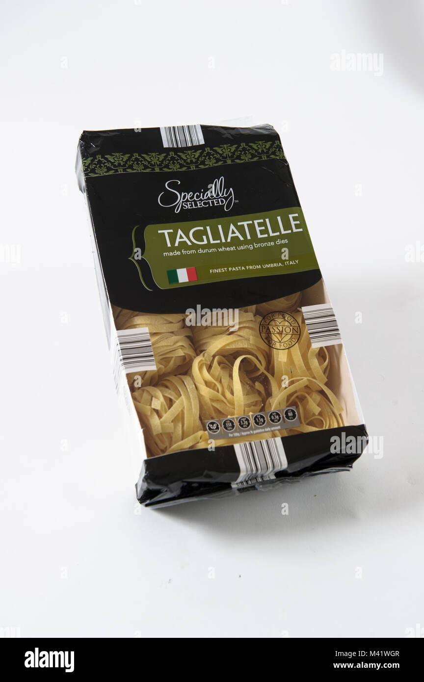 Aldi own brand Specially Selected Tagliatelle Pasta Stock Photo