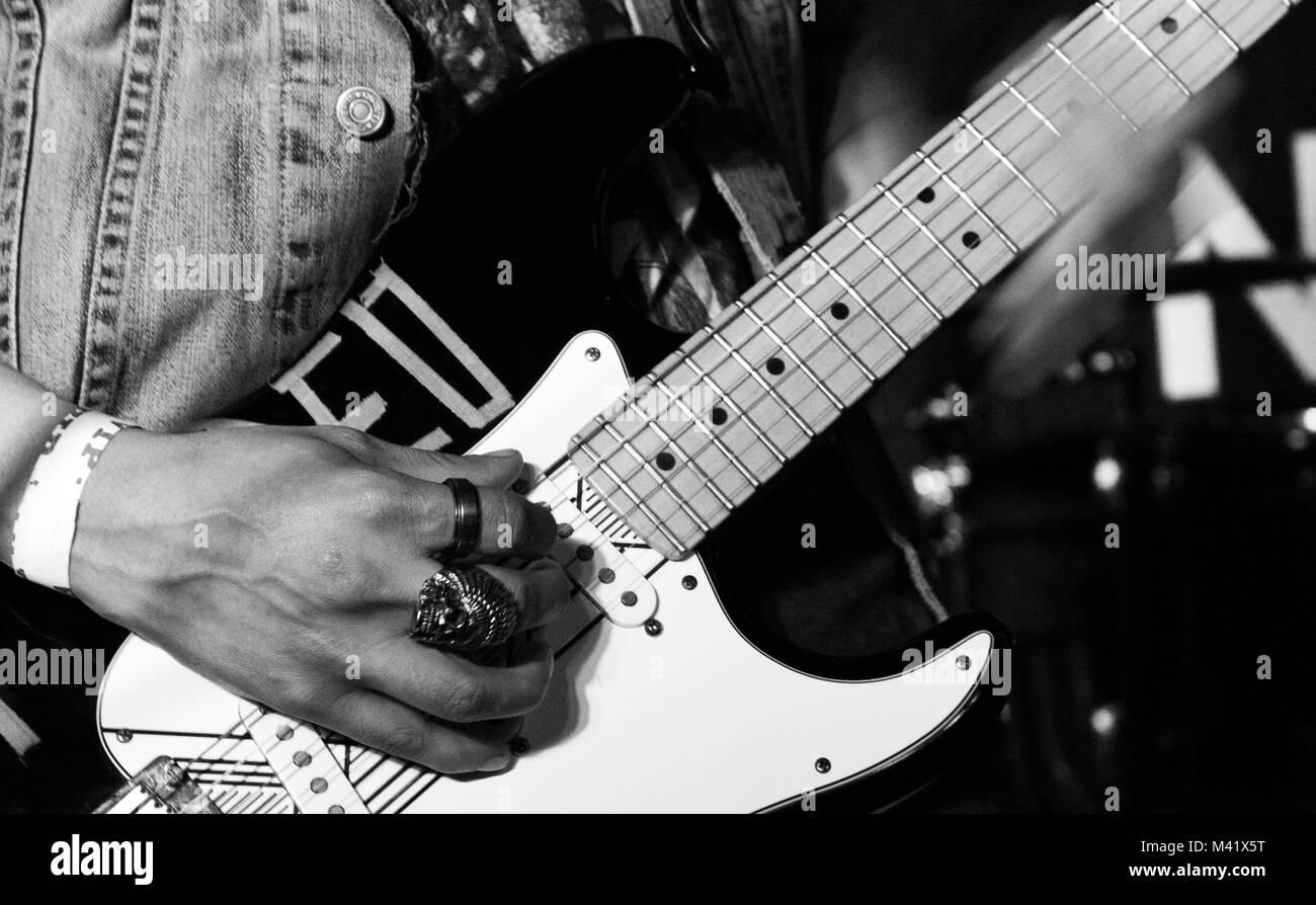 band playing live music - Stock Image